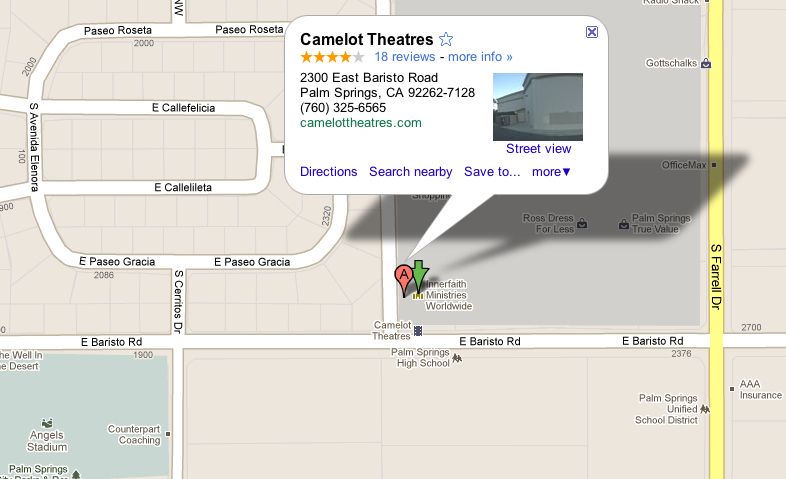 Camelot Theatres - Directions