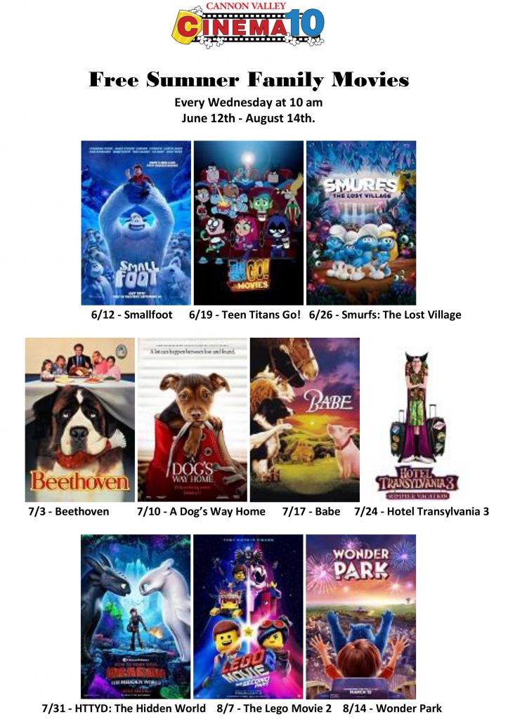 Summer Movies Cannon Valley Cinema 10